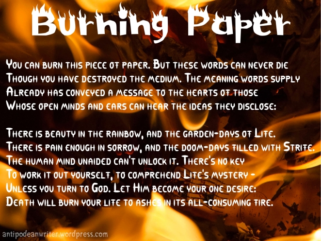 Wallpaper - Burning Paper 1600x1200