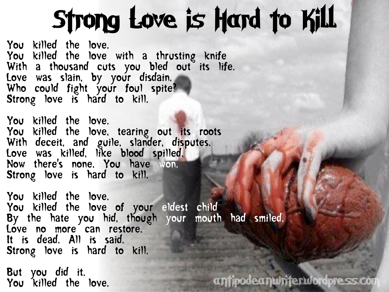Wallpaper Strong Love Is Hard To Kill Antipodean Writer