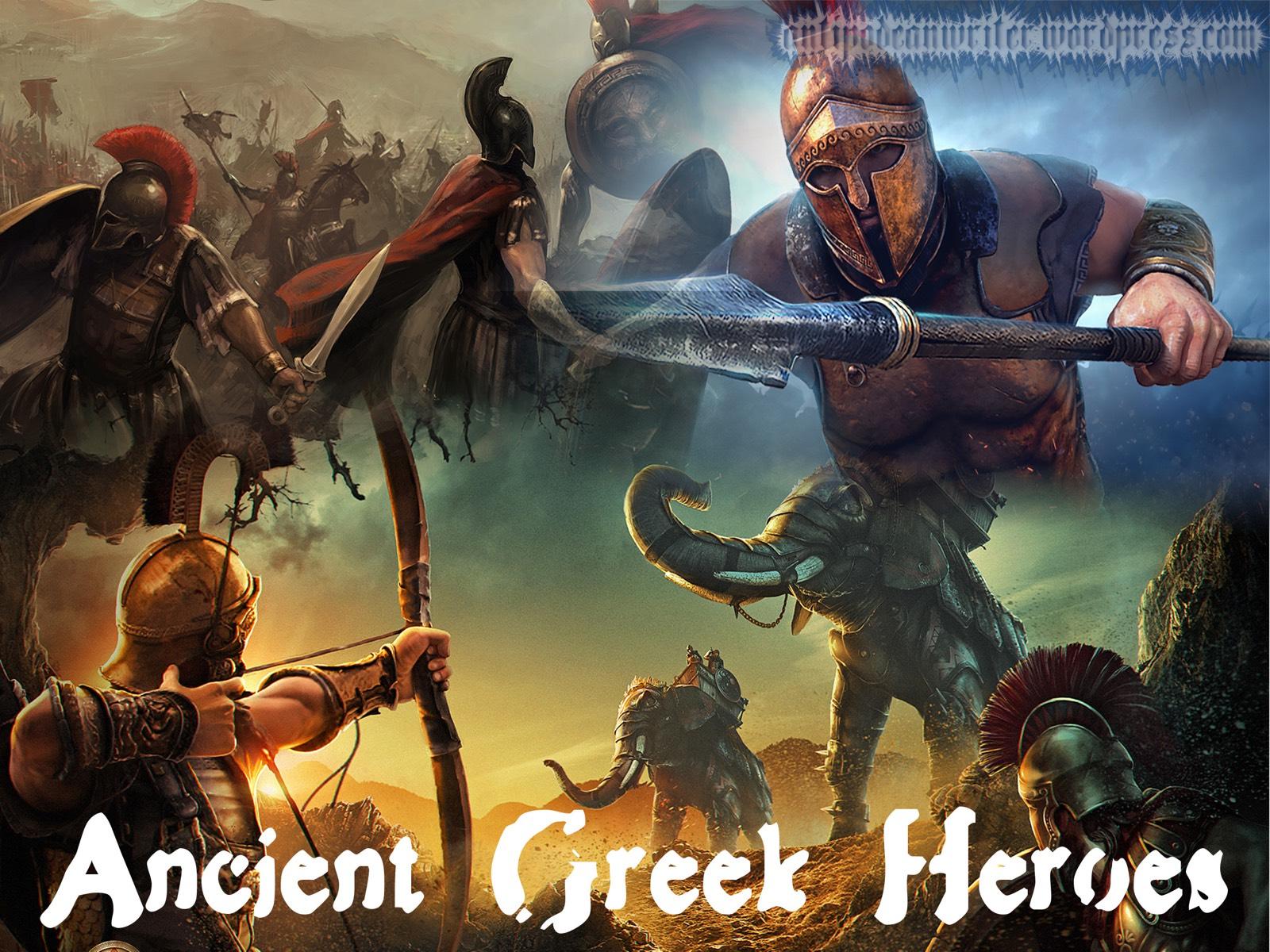 Wallpaper – Ancient Greek Heroes – Duo – Antipodean Writer